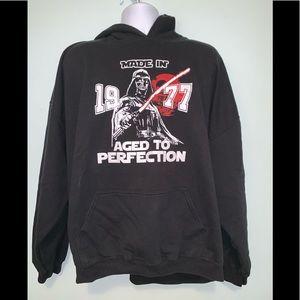 Darth Vader Star Wars Hooded Sweatshirt 3XL Used
